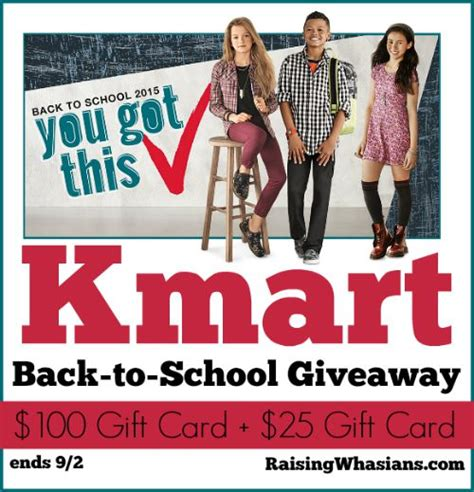 Kmart Gift Card Selection - save on back to school essentials at kmart