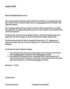 Eingeschriebener Briefvorlage Revisorenbericht Verein Vorlage Muster Und Vorlagen Kostenlos