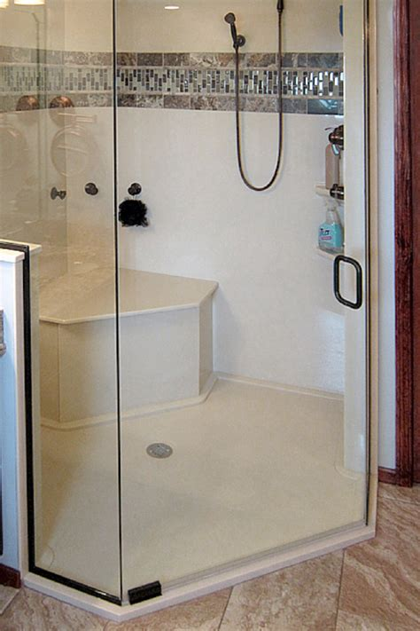 custom shower stalls with seat how to choose the right accessories for a solid surface shower