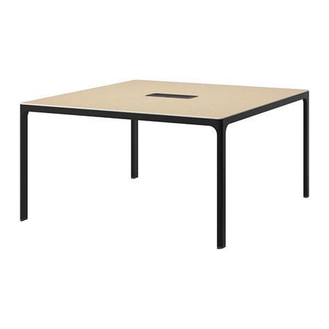 Ikea Conference Table Bekant Conference Table Birch Veneer Black Ikea