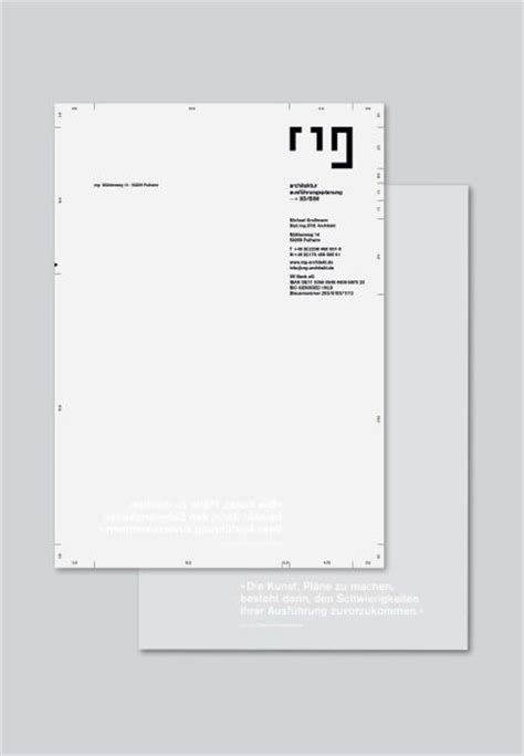Corporate Design Manual Vorlage Michael Gro 223 Mann Architekt Briefbogen Corporate Design Inspiration