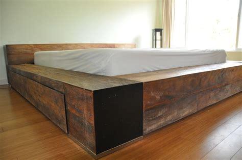 Low Profile Wooden Bed Frame Bed Frame Low Profile Platform Wooden Industrial Furniture Pinterest Furniture Bedroom