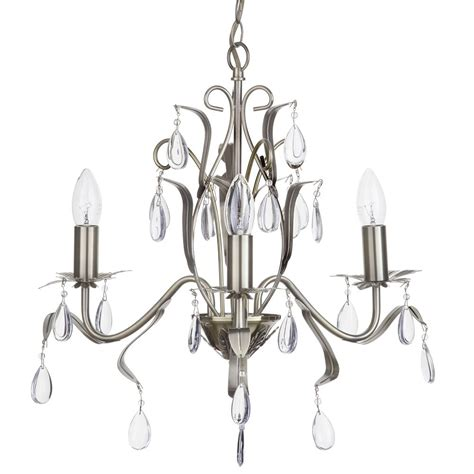 Modern Chandelier With Droplets Leaf Style 3 Light Antique Chandelier Droplets