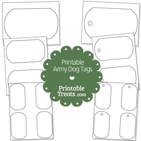 pin military dog tag template on pinterest