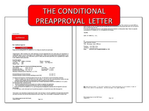 Conditional Loan Approval Letter Prequalification And Preapproval