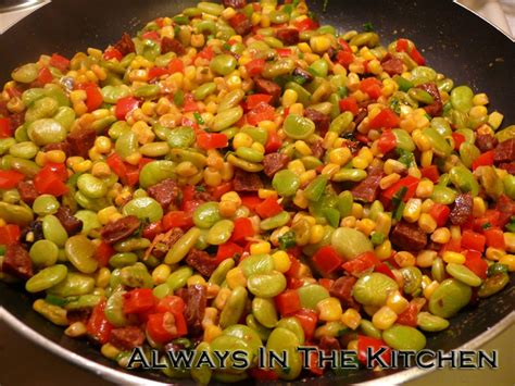 Cream Dining Room by Always In The Kitchen Chorizo Succotash
