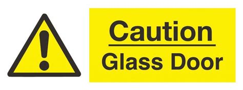 Glass Door Sign Automatic Glass Door Sign Non Photoluminescent Rigid Pvc Health And Safety Products