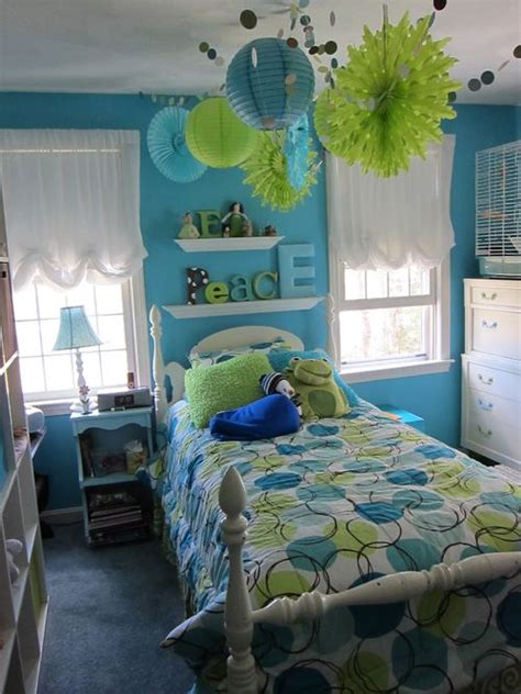lime green and turquoise bedroom house tour ebby s teen room jen bowles design
