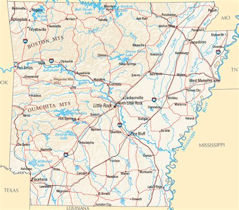 united states map showing arkansas arkansas map map of arkansas