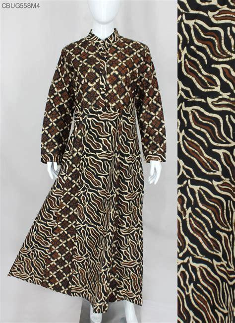 Sogan Batik Dress comfy syari dress batik sogan gamis batik murah