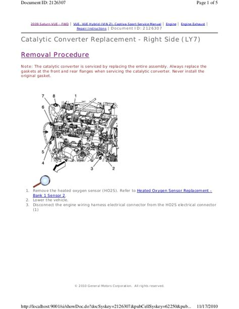 car repair manual download 2009 saturn vue engine control 2009 saturn vue service repair manual