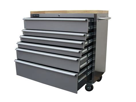 127 US PRO TOOLS ROLLER CABINET TOOL CHEST BOX STAINLESS