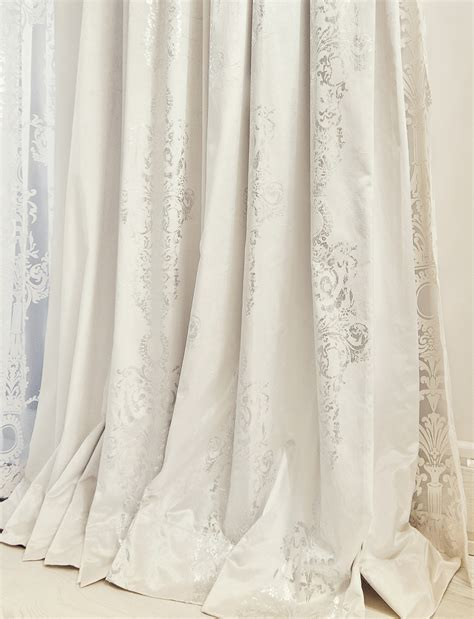 white cream curtains luxury interior design lidia bersani home fashion
