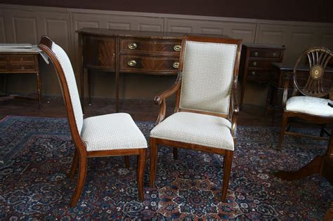 upholstered chairs for dining room mahogany dining room chairs regency upholstered ebay