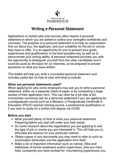 personal statement for resume sle 28 personal statement template for a collegesinpa org