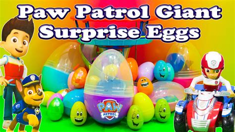 Paw Patrol Eggs Isi 4 opening paw patrol eggs with and rubble toys