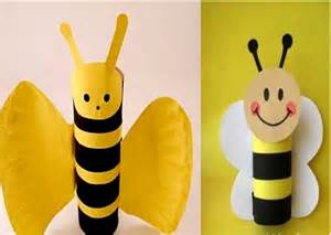 toilet paper roll crafts toilet paper roll bee craft 171 funnycrafts