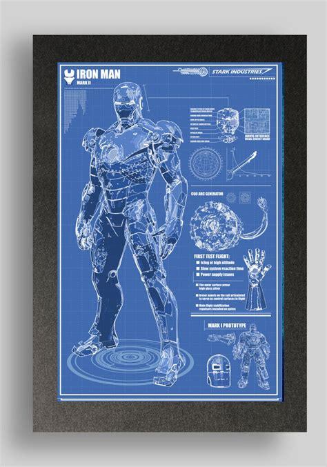 iron man mark suit blueprints ryanhuddle etsy