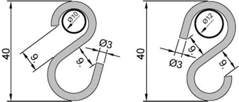 gardinenhaken fur stange haken s form f 252 r stangen und rohre mit 10mm und 12mm