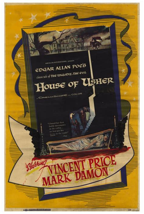 house of usher 1960 classic horror movie posters house of usher 1960 movie poster theatrical one sheet