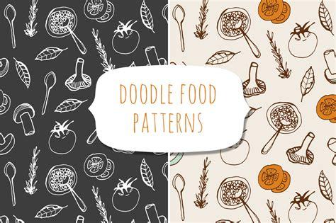 food doodle brushes doodle food patterns patterns on creative market