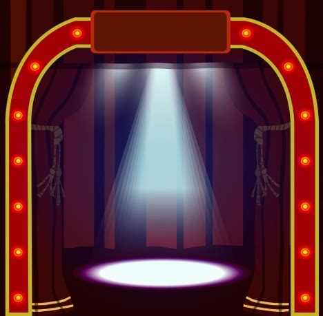 game show layout game show stage design bright neon gate decoration vectors