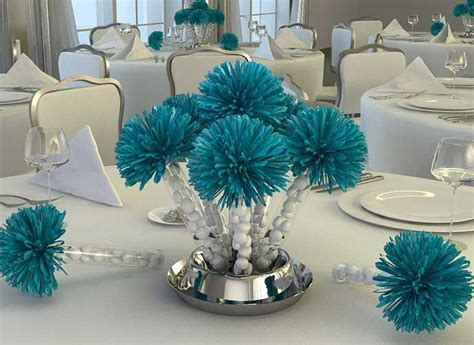 25 best ideas about teal wedding centerpieces on