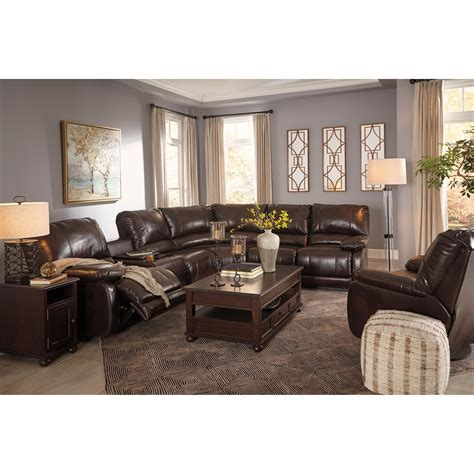 ashley signature design hallettsville reclining living