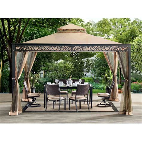 leaf pattern gazebo sunjoy 110101004 ayla gazebo by sunnest services llc at