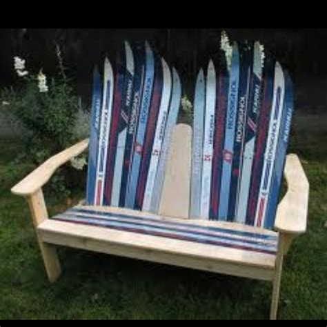 bench made of skis bench made of old ski s fun pinterest