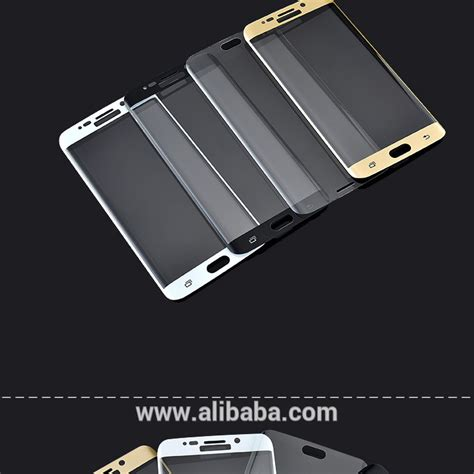 Tempered Glass 3d Samsung S6 Flat Anti Gores Kaca Curved Warna mobile phone 3d curved 100 cover remove air bubbles