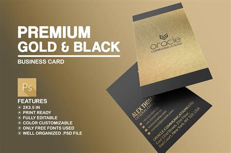 gold business card template free premium gold and black business card business card