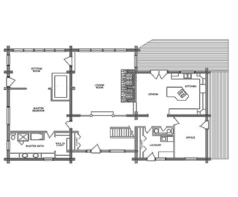 log home floor plan showplace