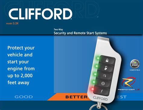 Alarm Clifford Matrix clifford 3 3x matrix car alarm with remote engine start