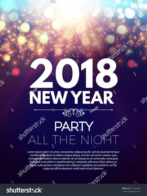 new year poster 2018 happy new 2018 year poster stock vector 721525864