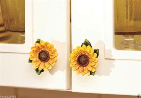 Sunflower Knobs by Set 4 Decorative 3 D Ceramic Sunflower Cabinet Drawer
