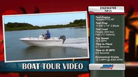 edgewater boats youtube edgewater power boats 158cs review youtube