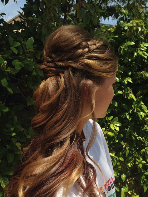 formal hairstyles plait 15 beautiful half up half down braid side curls and prom