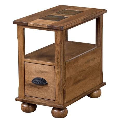 designs sedona end tables designs sedona end table in rustic oak 3163ro cs
