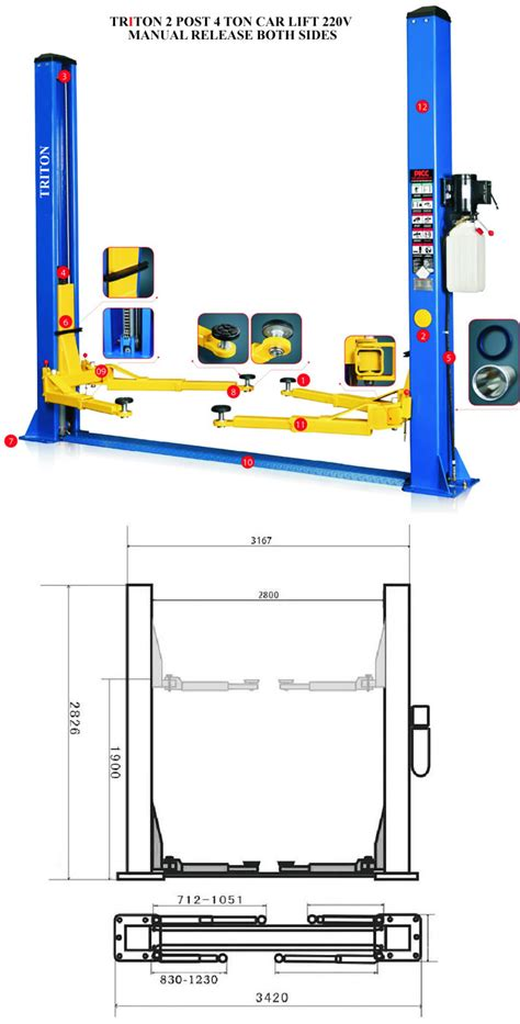 4 post car lift wiring diagram free wiring