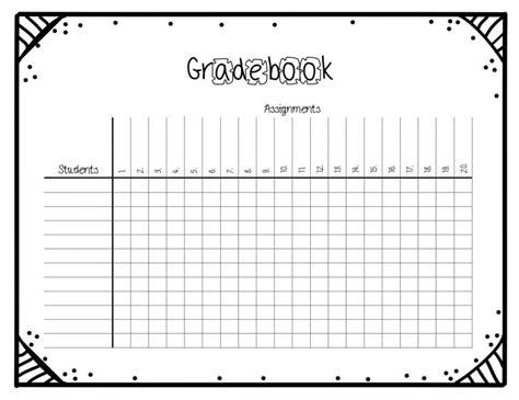 Template Gradebook Template Book Template Docs