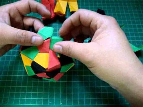 how to make a origami polihedron octahedron o