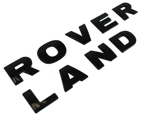 Gloss Black Bonnet Lettering Land Rover For Discovery 3 4 Lr3 Hood Font Logo Hse Ebay Range Rover Sport Lettering Template