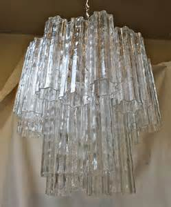 venini glass chandelier venini murano quot tronchi quot glass chandelier at 1stdibs