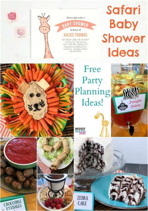 Safari Baby Shower by Safari Baby Shower Free Planning Ideas Food