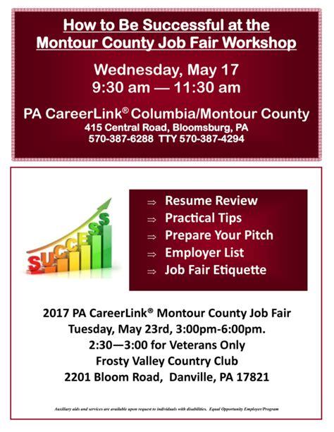 jobgateway pa gov job seeker columbia montour job seeker connection 3 28 17 pa careerlink 174