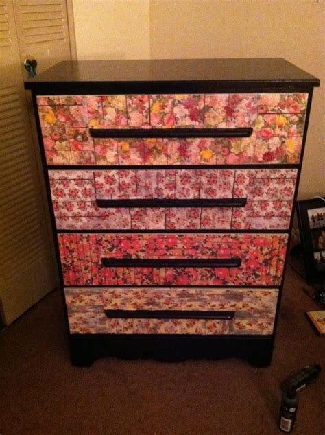 decoupage furniture with scrapbook paper 30 best images about modge podge ideas on