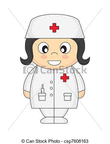 clipart infermiere vettori di infermiera cartone animato con 224 bianco
