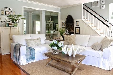 white sofa living room white slipcovered sofa for nice living room homesfeed