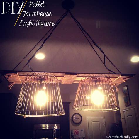 Farmhouse Light by Pallet Farmhouse Light Fixture Kristen Welch